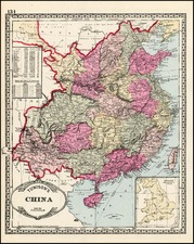 Asia and China Map By H.C. Tunison