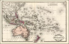 World, Australia & Oceania, Pacific, Oceania, Hawaii and Other Pacific Islands Map By H.C. Tunison