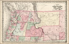 Plains, Rocky Mountains and Canada Map By Joseph Hutchins Colton