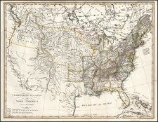 United States and Midwest Map By Adolf Stieler