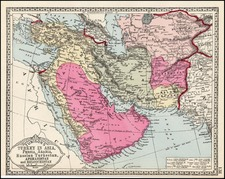 Asia, Central Asia & Caucasus, Middle East, Turkey & Asia Minor and Russia in Asia Map By H.C. Tunison
