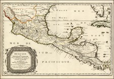 Mexico, Caribbean and Central America Map By Nicolas Sanson