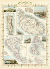 Europe, Mediterranean, Balearic Islands and Africa Map By John Tallis