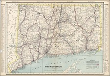 New England Map By George F. Cram