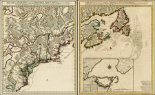 Mid-Atlantic and Canada Map By Peter Schenk / Nicolaes Visscher I