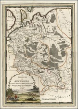 Europe and Russia Map By Giovanni Maria Cassini
