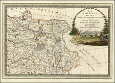 Europe and Poland Map By Giovanni Maria Cassini