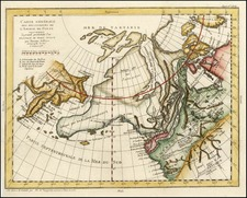 World, Polar Maps, North America and Canada Map By Denis Diderot / Didier Robert de Vaugondy