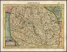 Europe, Hungary and Czech Republic & Slovakia Map By Henricus Hondius - Gerhard Mercator