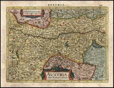 Europe and Austria Map By Jodocus Hondius