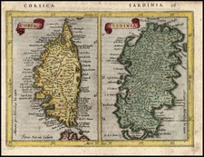Europe, France, Italy and Balearic Islands Map By Jodocus Hondius - Gerhard Mercator