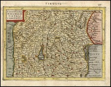 Europe and Italy Map By Henricus Hondius - Gerhard Mercator