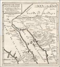 Southwest, Mexico, Baja California and California Map By Fr. Eusebio Kino / Inselin