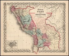 South America Map By Joseph Hutchins Colton