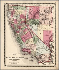 California Map By H.H. Lloyd / Warner Higgins & Beers