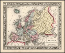 Europe and Europe Map By Samuel Augustus Mitchell Jr.