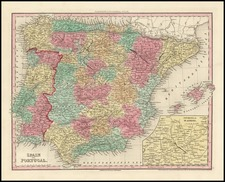 Spain and Portugal Map By Henry Schenk Tanner