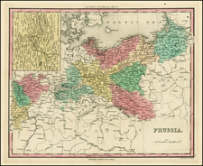 Europe, Germany and Baltic Countries Map By Henry Schenk Tanner