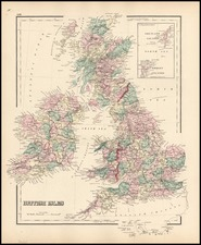 Europe and British Isles Map By O.W. Gray