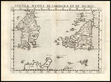 Europe, Italy, Mediterranean and Balearic Islands Map By Girolamo Ruscelli