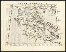 Europe, Greece and Balearic Islands Map By Girolamo Ruscelli