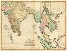China, India, Southeast Asia and Philippines Map By John Blair