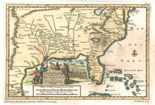 United States, South, Southeast and Southwest Map By Pieter van der Aa