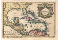 South, Caribbean, Central America and South America Map By Pieter van der Aa