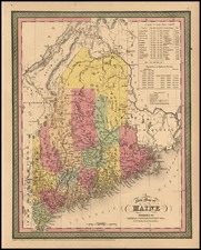 New England Map By Thomas, Cowperthwait & Co.