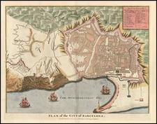 Europe and Spain Map By Paul de Rapin de Thoyras