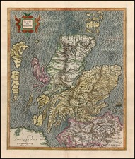 Scotland Map By Gerhard Mercator