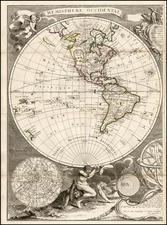 World, World, Alaska, South America and America Map By Jean Janvier / S.G. Longchamps