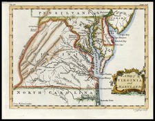 Mid-Atlantic and Southeast Map By Thomas Jefferys