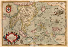 Asia, Japan, Southeast Asia, Philippines, Australia & Oceania and Oceania Map By Abraham Ortelius
