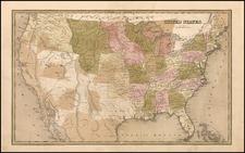 United States Map By Thomas Gamaliel Bradford