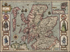 Europe and British Isles Map By John Speed