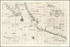 Mexico, Baja California and California Map By Robert Dudley
