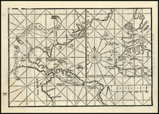 World, World, Atlantic Ocean, North America, South America and America Map By Pedro de Medina / G.B. Pedrazano