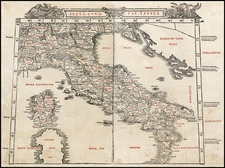Europe and Italy Map By Bernardus Sylvanus