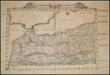 Africa and North Africa Map By Bernardus Sylvanus