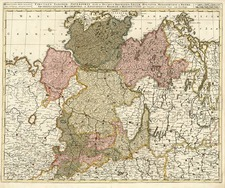 Europe, Germany and Baltic Countries Map By Gerard & Leonard Valk