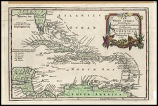 Southeast and Caribbean Map By Thomas Jefferys