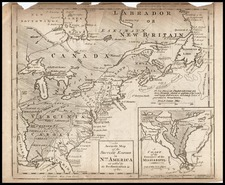 United States and North America Map By Gentleman's Magazine