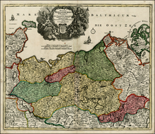 Germany and Baltic Countries Map By Johann Baptist Homann