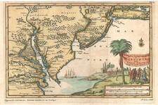 Mid-Atlantic Map By Pieter van der Aa