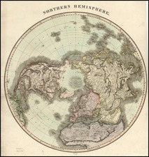 World, Northern Hemisphere, Polar Maps, Alaska and North America Map By John Thomson