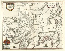 Asia, India and Central Asia & Caucasus Map By Willem Janszoon Blaeu