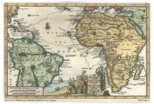South America, Africa and Africa Map By Pieter van der Aa