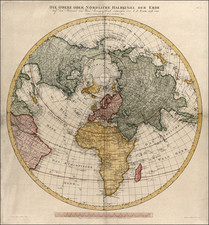World, Northern Hemisphere, Polar Maps and Pacific Map By Tranquillo Mollo