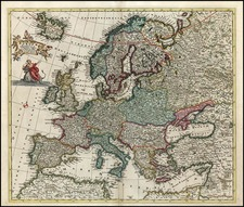 Europe and Europe Map By Reiner & Joshua Ottens / Frederick De Wit